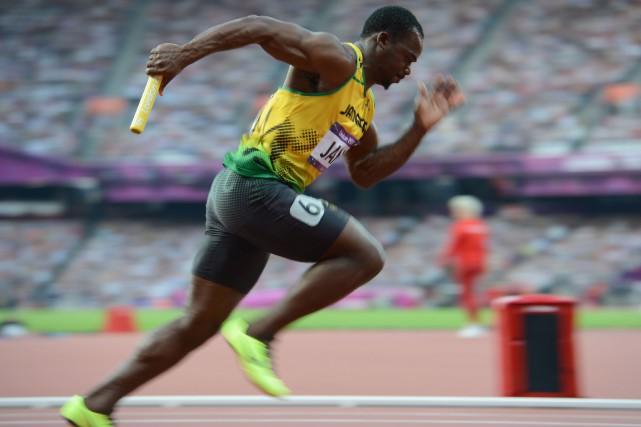 Nesta Carter a étédisqualifié mercredi du relais 4x100... (Photo  Eric Feferberg, archives Agence France-Presse)