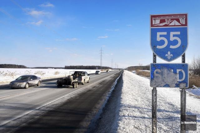 Le doublement de l'autoroute 55 entre le pont... (François Gervais, Le Nouvelliste)