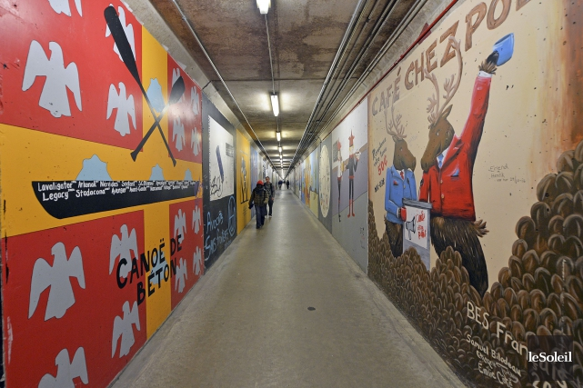 Le réseau de souterrains de l'Université Laval... (Le Soleil, Patrice Laroche)