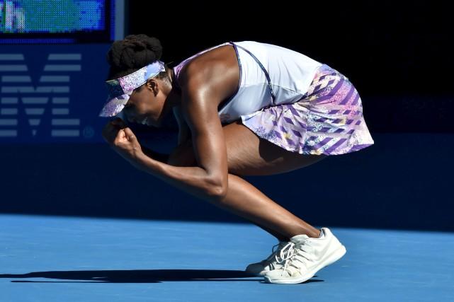 Venus Williams a laissé exploser sa joie après... (AFP, Paul Crock)