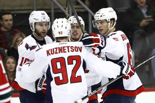 Dans la victoire des siens, Evgeny Kuznetsov a... (Photo Julio Cortez, Associated Press)
