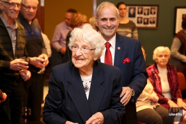 L'engagement de l'énergique centenaire au coeur d'or, Régina... (Julie Catudal, La Voix de l'Est)
