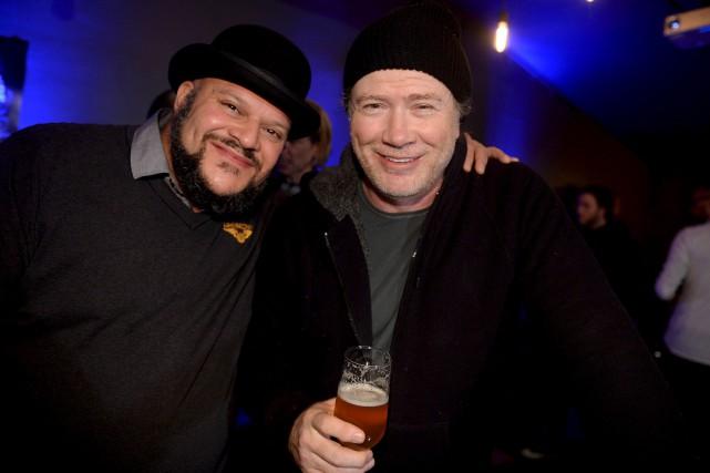 Dave Mustaine (à droite) a procédé au lancement... (Le Soleil, Erick Labbé)
