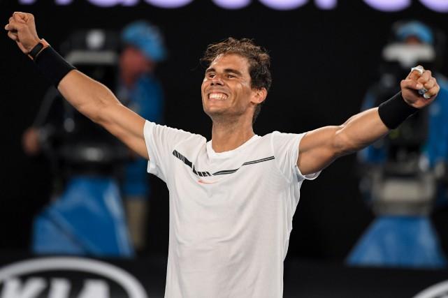 Il s'agira de la première finale entre Rafael... (Photo Saeed Khan, Agence France-Presse)
