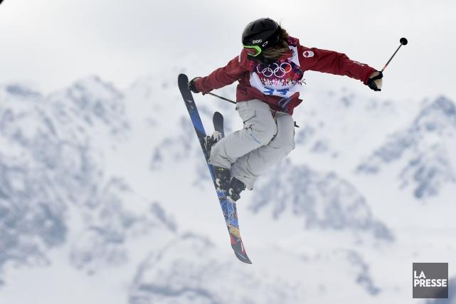 Kaya Turski en action aux Jeux olympiques de... (Photo Bernard Brault, archives La Presse)