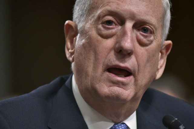 Le secrétaire américain à la Défense, James Mattis... (PHOTO Mandel Ngan, ARCHIVES AFP)