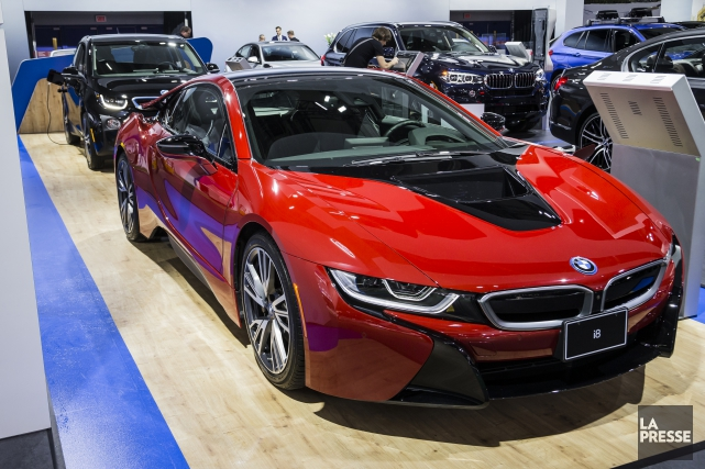 La BMW i8 Protonic Édition rouge.... (Photo : Édouard Plante-Fréchette, La Presse)