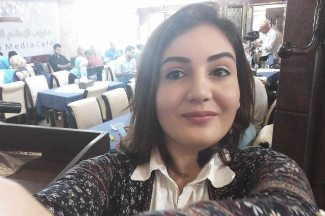Asmaa Alghoul raconte son quotidien et sa réalité... (Photo tirée de Facebook)
