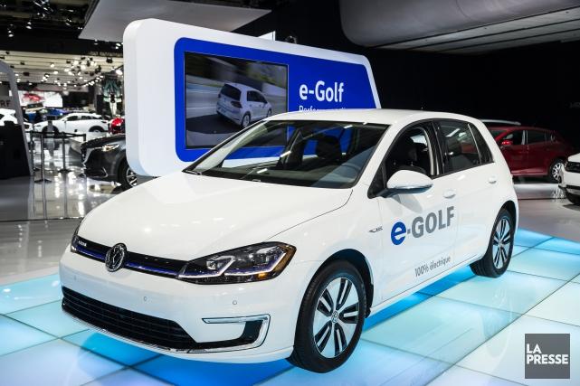 La e-Golf tout électrique.... (PHOTO ÉDOUARD PLANTE-FRECHETTE, LA PRESSE)