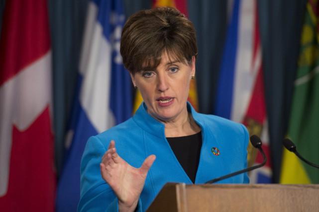 La ministre canadienne du Développement international, Marie-Claude Bibeau... (PHOTO Adrian Wyld, ARCHIVES LA PRESSE CANADIENNE)
