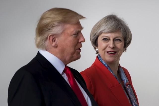 Donald Trump a profité de la visite à... (AFP, Brendan Smialowski)