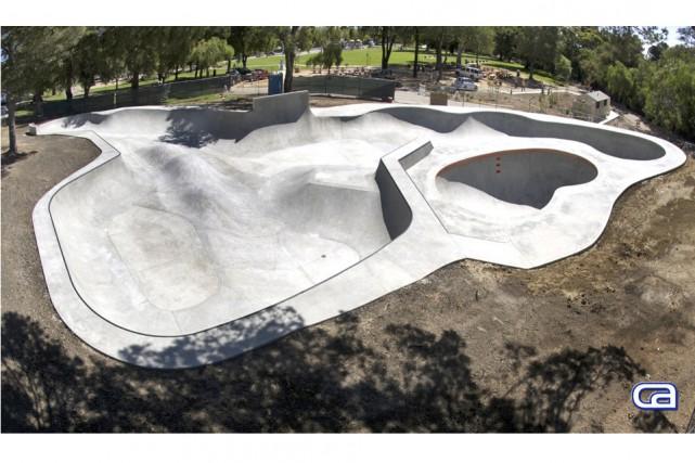 Le nouveau skatepark sera en béton et de... (TRD Skatepark)