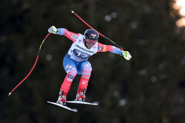 L'Américain Travis Ganong a remporté la descente deGarmisch-Partenkirchen,... (AFP, Christof Stache)