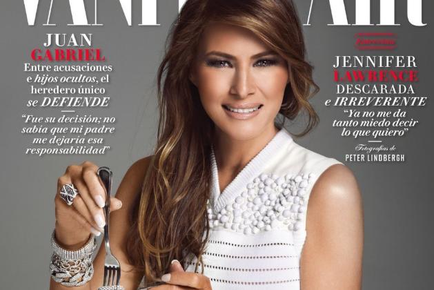 Melania Trump apparaît toute vêtue de blanc, tirée... (Photo tirée de Twitter)