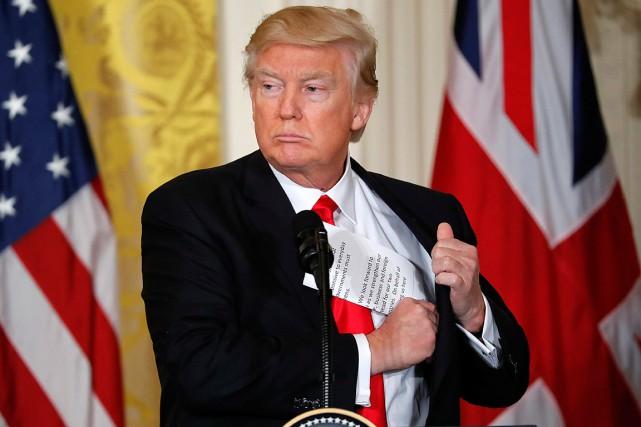 Donald Trump a participé vendredi à une conférence... (Photo Pablo Martinez Monsivais, AP)