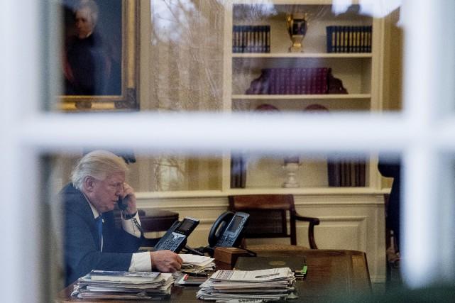 Donald Trump prévoyait passer des coups de fil... (AP, Andrew Harnik)
