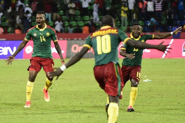 Les Camerounais ont vaincu les grands favoris du... (Photo KHALED DESOUKI, agence france-presse)