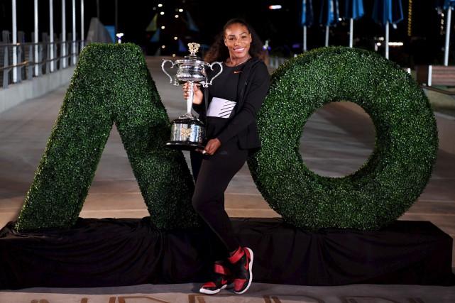 Serena Williams a décroché un 23e titre du... (AFP, Saeed Kha)