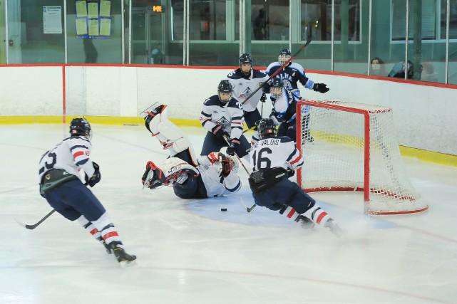 Les Nordiques ont marqué deux fois lors d'un... (Le Progrès-Dimanche, Gimmy Desbiens)