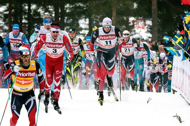 Emil Iversen (11) etAlex Harvey (3)... (Photo Ulf PALM, AFP/TT News Agency)