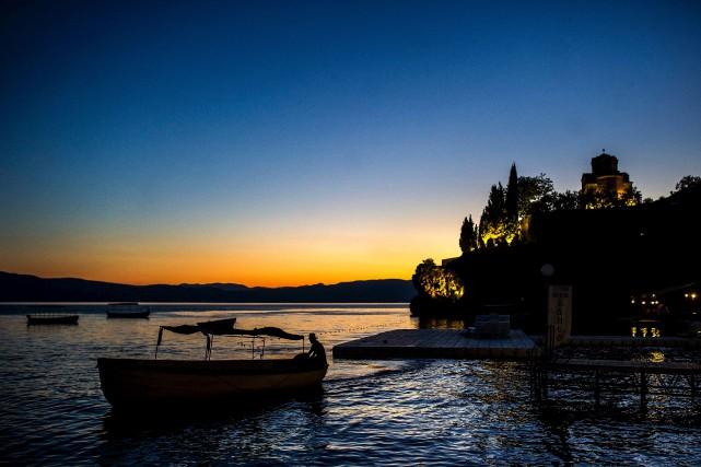 Le lac d'Ohrid en Macédoine est vieux de... (AFP, Robert Atanasovski)