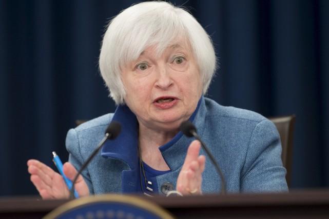 La présidente de la banque centrale américaine, Janet... (AFP, Saul Loeb)