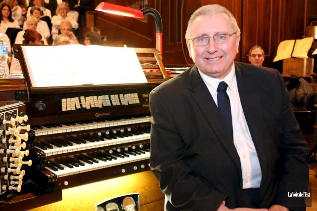 L'organiste Pierre Grandmaison.... (Christophe Boisseau-Dion, La Voix de l'Est)