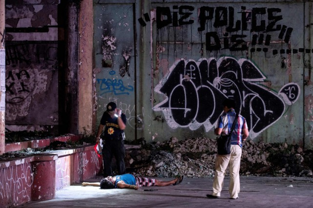 Depuis l'investiture de Rodrigo Dutertefin juin, les policiers... (PHOTO AFP)