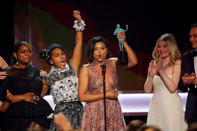 Les trois actrices principales de Hidden Figures, Octavia Spencer,... (PHOTO REUTERS)