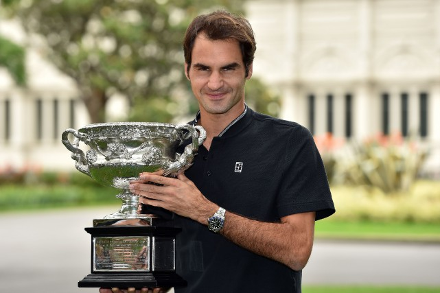 Roger Federer a remporté les Internationaux d'Australie, le... (Photo Saeed Khan, AFP)