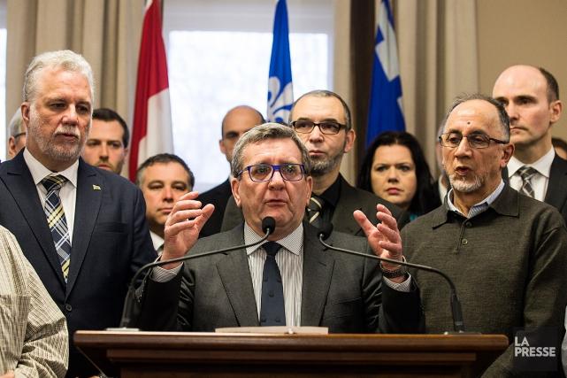 Un point de presse a eu lieu à... (Olivier Pontbriand, La Presse)