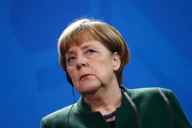 La chancelière allemande Angela Merkel a dénoncé le... (Photo Odd Andersen, AFP)