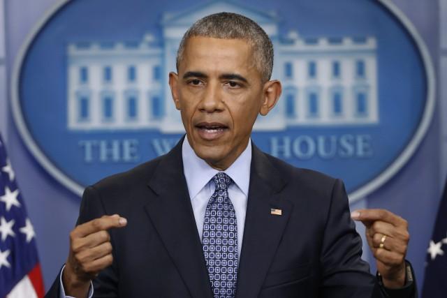 L'ancien président américain Barack Obama.... (Photo Pablo Martinez Monsivais, archives AP)
