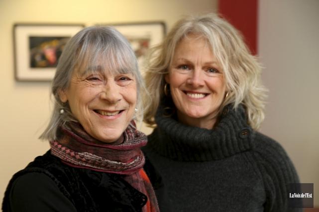 Anne Dansereau et Lysanne Gallant.... (Janick Marois, La Voix de l'Est)