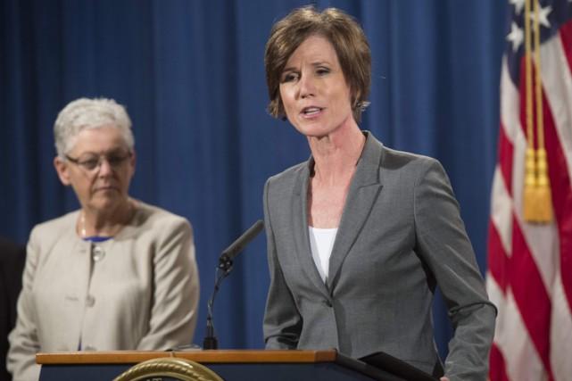 Sally Yates est l'ancienne numéro deux du ministère... (PHOTO AFP)