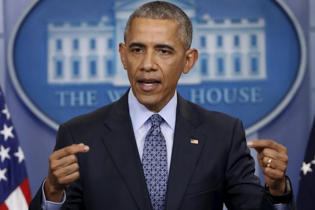 Barack Obama lors de sa dernière conférence de... (AP, Pablo Martinez Monsivais)