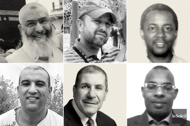 Les six victimes de l'attentat de Québec, dans... (Infographie Le Soleil)