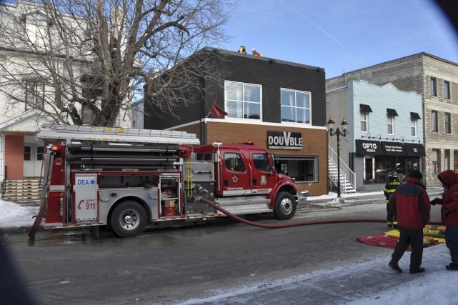 Un incendie a endommagé le resto-bar Double V... (fournie par Marc Robitaille)