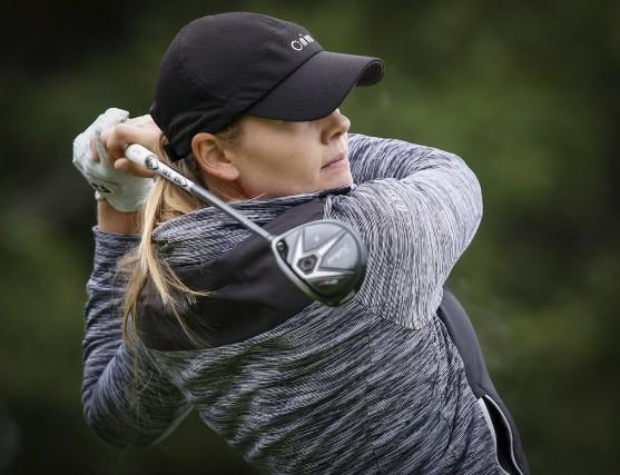 Maude-Aimé Leblanc a commencé sa saison de golf... (Archives, La Presse canadienne)