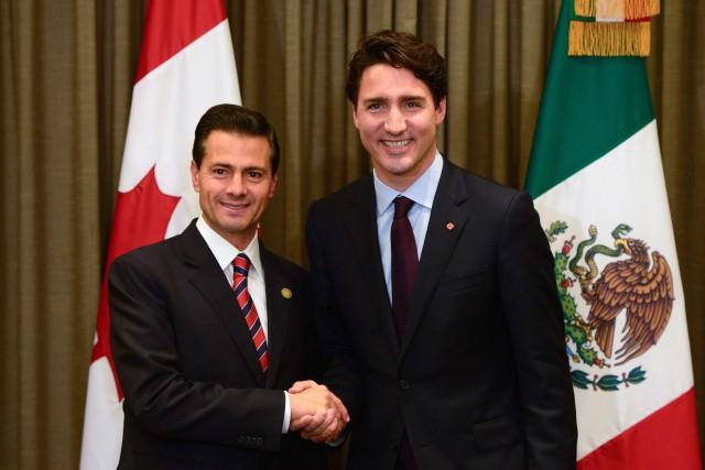 Le premier ministre du Canada, Justin Trudeau et... (THE CANADIAN PRESS)