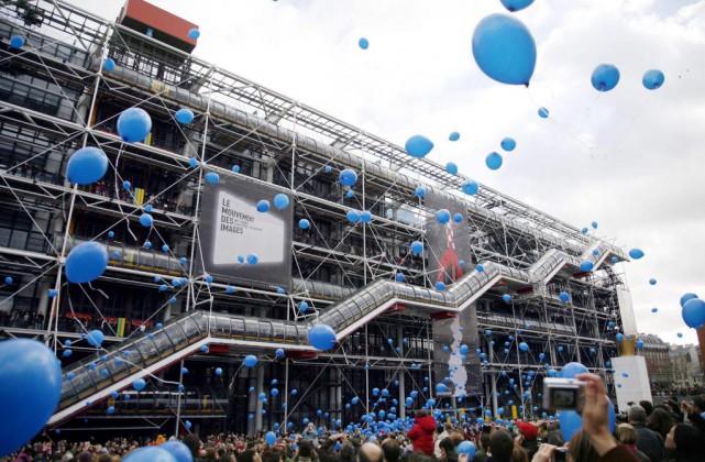 Quelque 1001 ballons bleus ont été lâchés sur... (PHOTO LOIC VENANCE,ARCHIVES AGENCE FRANCE-PRESSE)