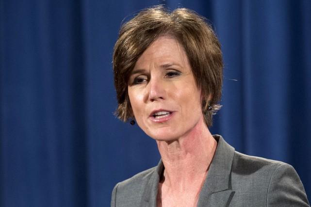 La procureure générale intérimaire Sally Yates, à Washington... (AFP, SAUL LOEB)