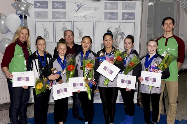 Cinq gymnastes des Hirondelles ont réussi à se... (fournie)