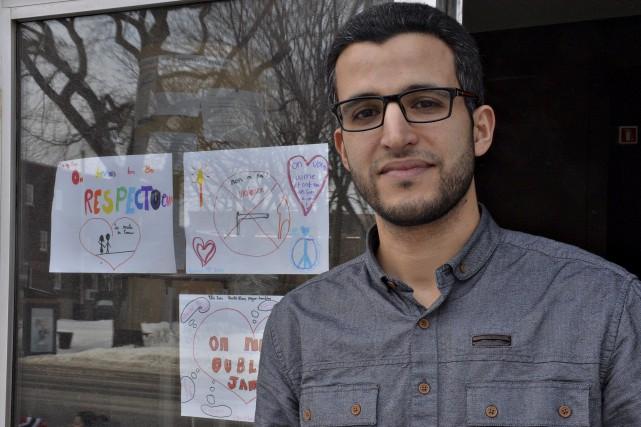 Abdel Kabbouch, encouragé par les messages d'amour à... (Le Soleil, Patrice Laroche)