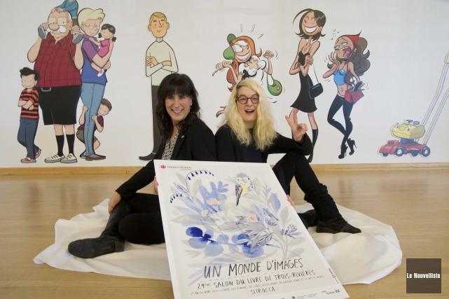 À gauche, Julie Brosseau, directrice générale du Salon... (Sylvain Mayer, Le Nouvelliste)