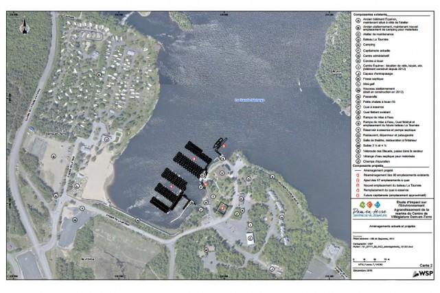 La marina de la Dam-en-Terre aura cet aspect... (Photo courtoisie)