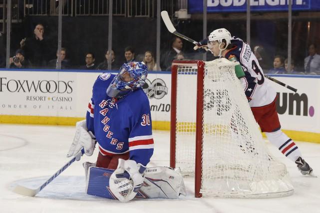 Henrik Lundqvist a été chassé en début de... (Photo Julie Jacobson, AP)