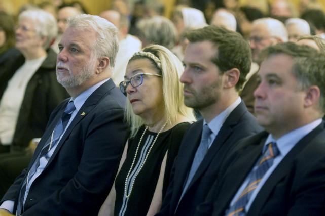 Le premier ministre Philippe Couillard a assisté à... (Le Soleil, Jean-Marie Villeneuve)