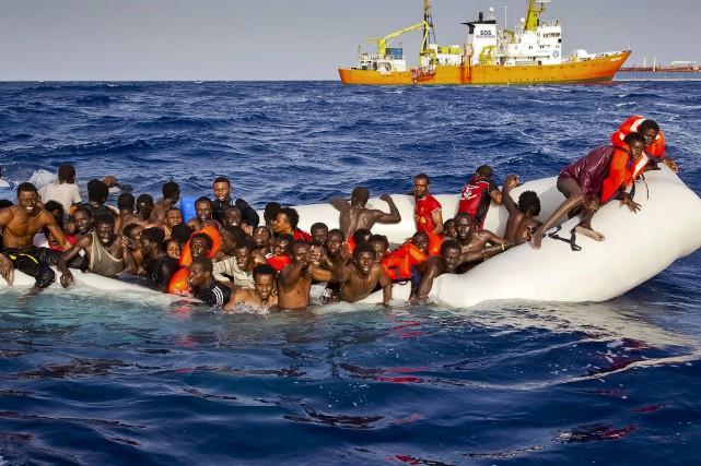 Les centaines de milliers de demandeurs d'asile qui... (AP)