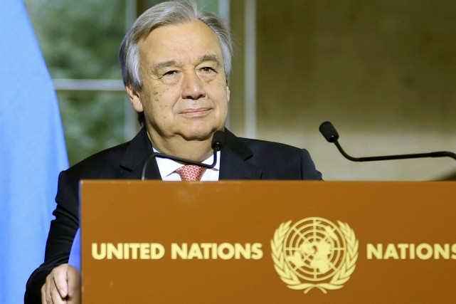 Antonio Guterres... (PHOTO PIERRE ALBOUY, ARCHIVES REUTERS)
